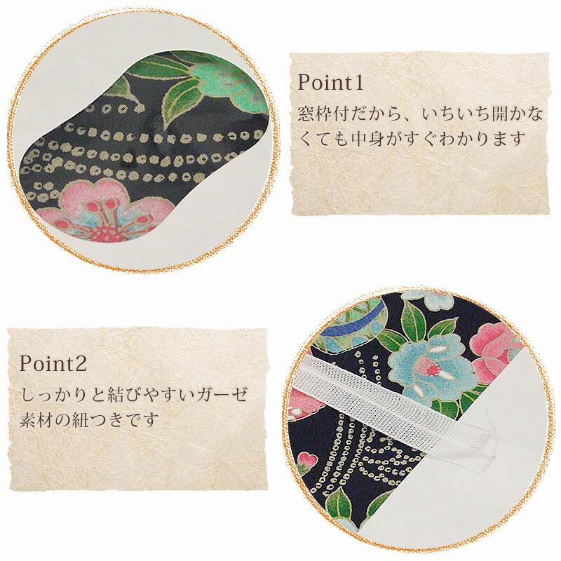 着物たとう紙日本製窓枠付ポイント