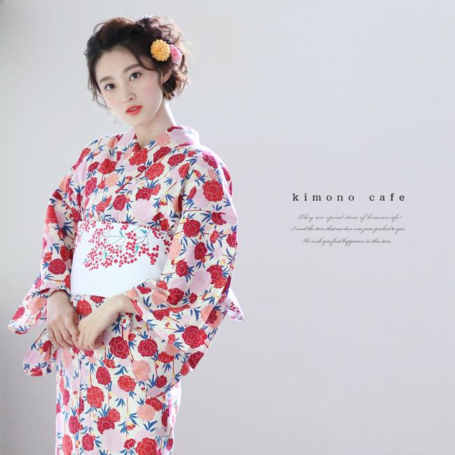 レディース浴衣レトロ桜柄
