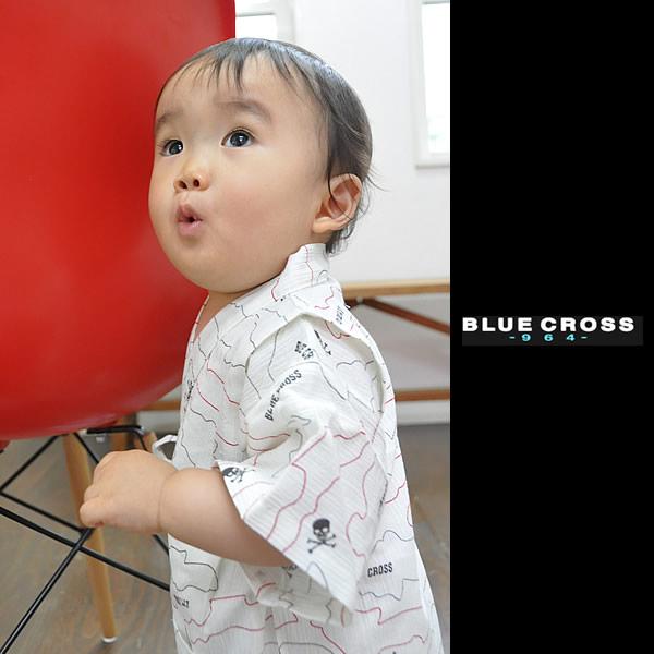 ブルークロス甚平 浴衣