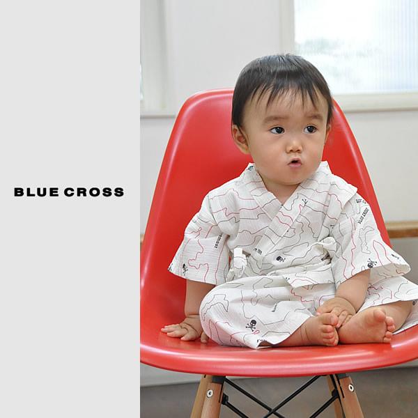ブルークロス甚平 浴衣 ブランド子供浴衣