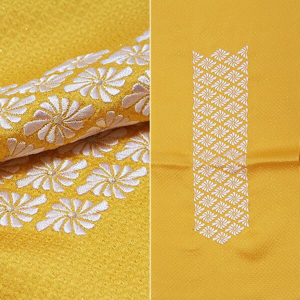 菱菊刺繍帯揚 正絹帯揚げ 振袖帯揚げ