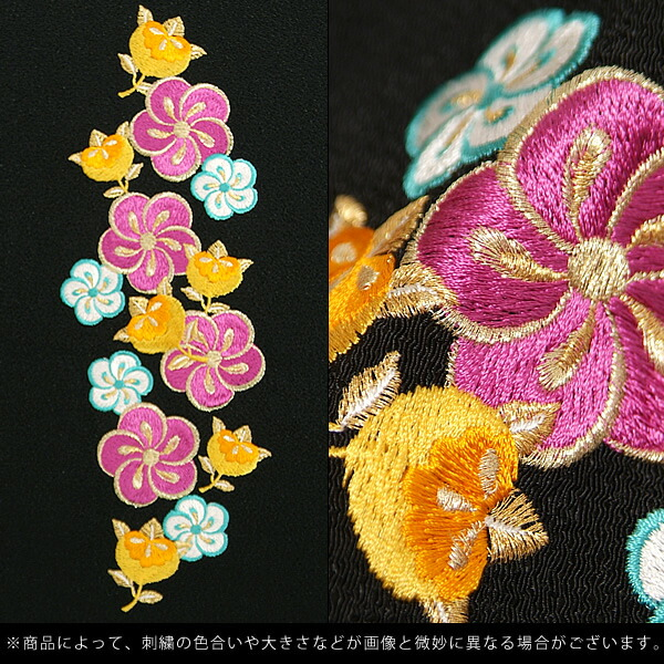 半衿 前撮り 刺繍衿