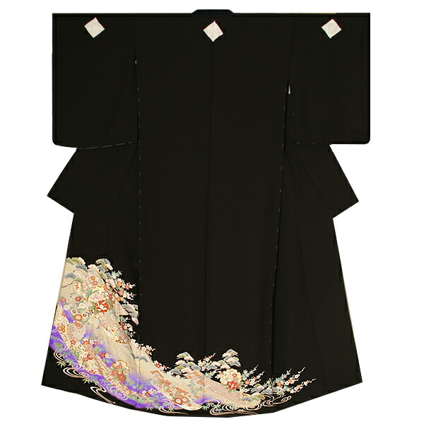 黒留袖単品 第一礼装 ゆとりサイズ