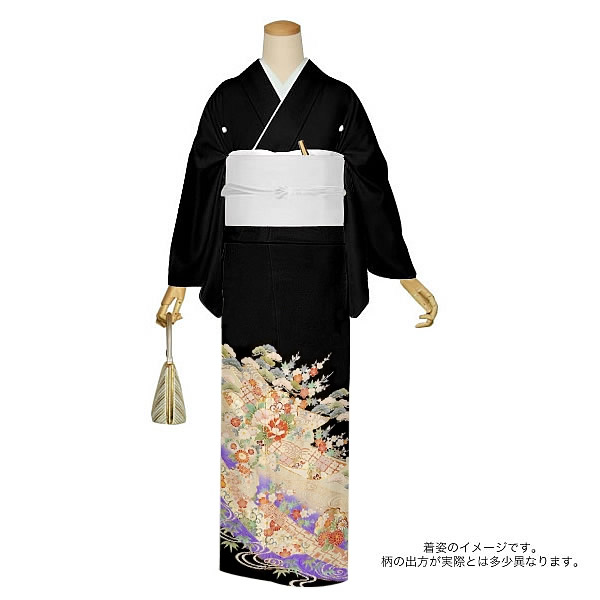 ゆとりサイズ 正絹黒留袖 フォーマル