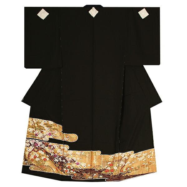 黒留袖単品 第一礼装 王朝琳派