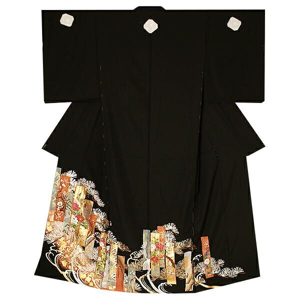 黒留袖単品 第一礼装 京友禅