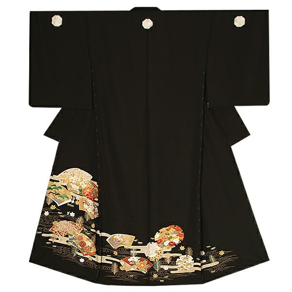 黒留袖単品 第一礼装 正絹黒留袖