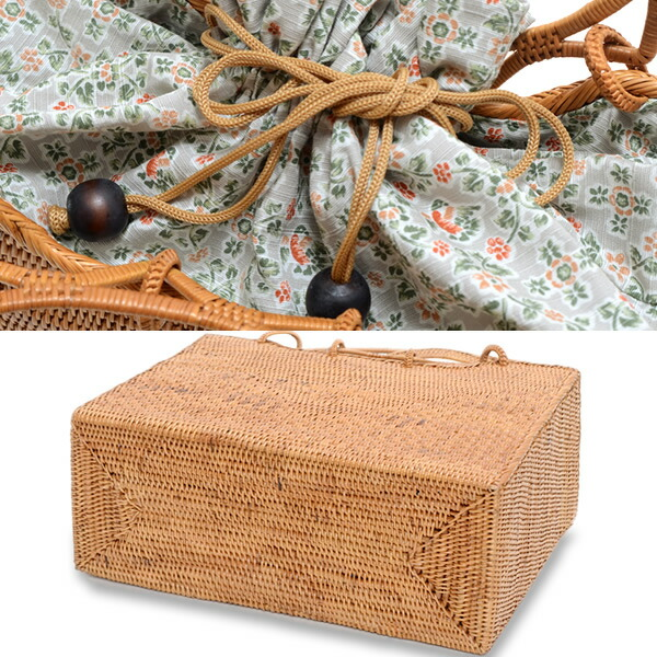 癒しの音ガムランボールの飾り付き 巾着バッグ 浴衣巾着