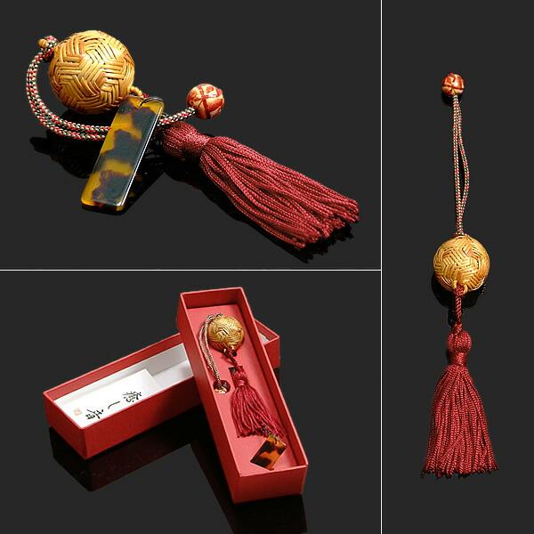 アタバッグ カゴ巾着 癒しの音ガムランボールの飾り付き
