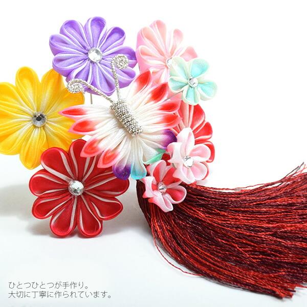 髪飾り 七五三、桃の節句、お正月に パッチン留め髪飾り
