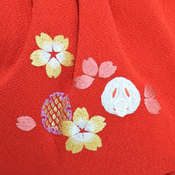 刺繍バッグ 成人式の振袖に 日本製