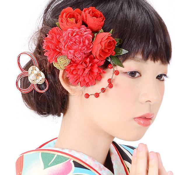 髪飾り2点セット コーム髪飾り お花髪飾り