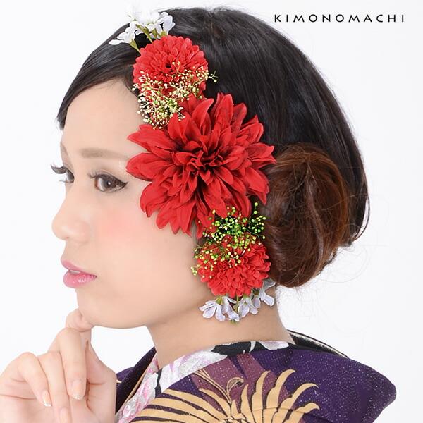 お花髪飾り お花カチューシャ コーム髪飾り