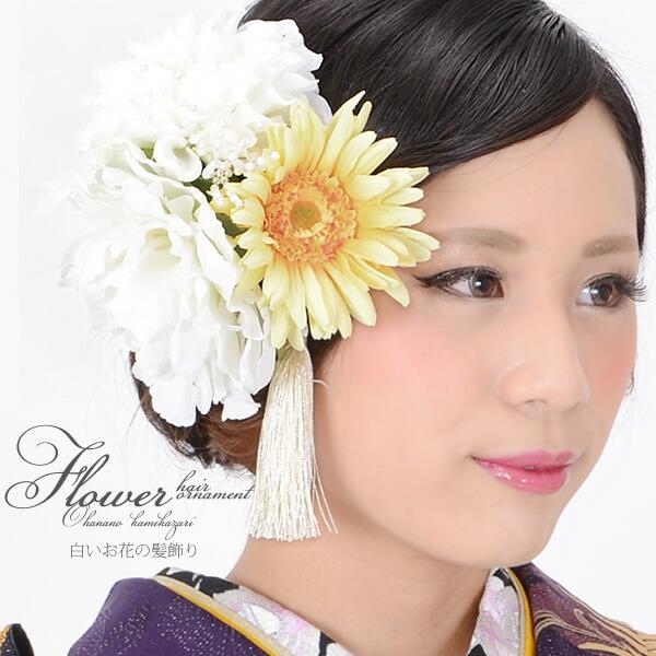 髪飾り コーム髪飾り お花髪飾り