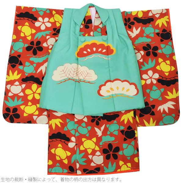 LILLI被布セットL松-AS54 子供着物 女の子の着物