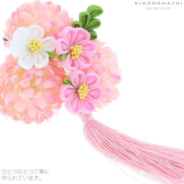 髪飾り 桃の節句、お正月にも つまみ細工