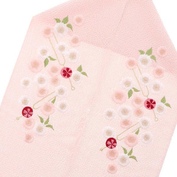 刺繍半襟 振袖衿 前撮り、成人式の振袖に