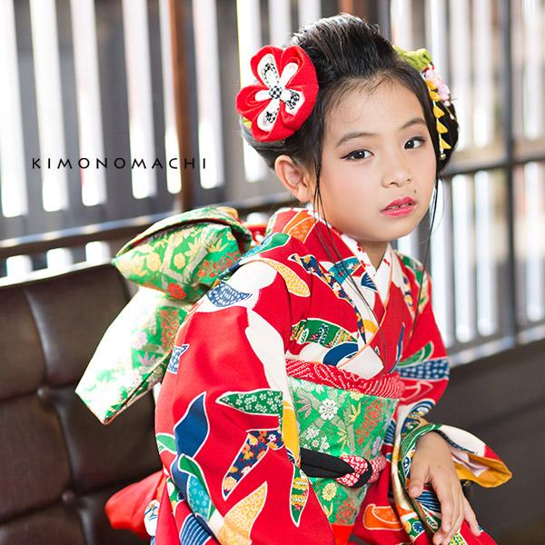 つまみ細工 七歳の女の子に 髪飾り単品