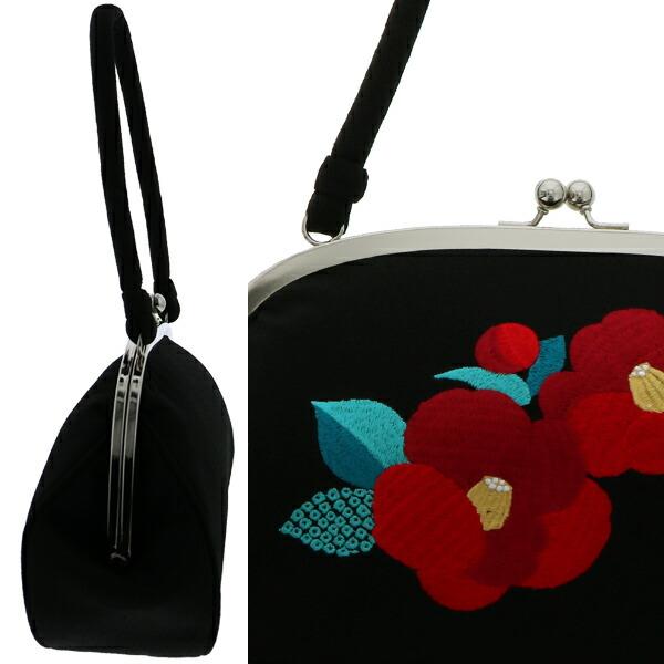 バッグ単品 がま口バッグ 刺繍バッグ