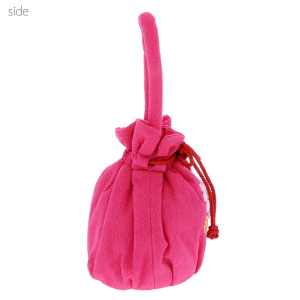 桃の節句、ひな祭り 巾着バッグ 着物バッグ