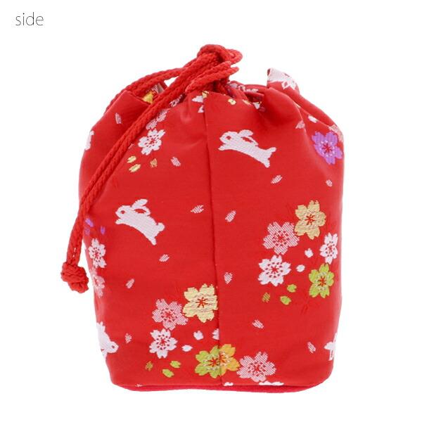 桃の節句、ひな祭り 巾着バッグ 和装巾着