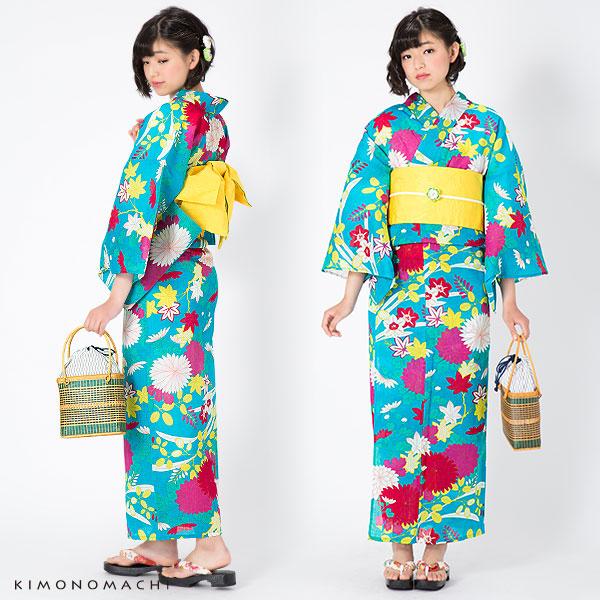 S,F(フリー),TL,LL 京都きもの町オリジナル 女性浴衣セット