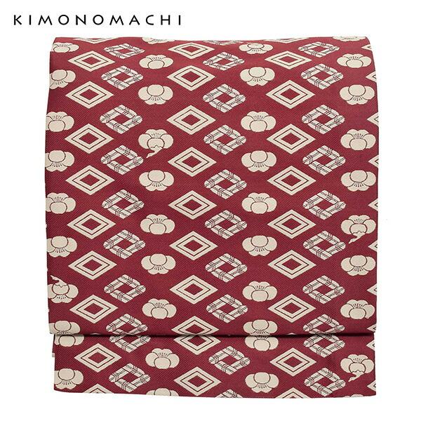 京袋帯 単品 数量限定 KIMONOMACHI オリジナル 「紋」 ポリエステル 名古屋帯 普段着着物用 【メール便不可】