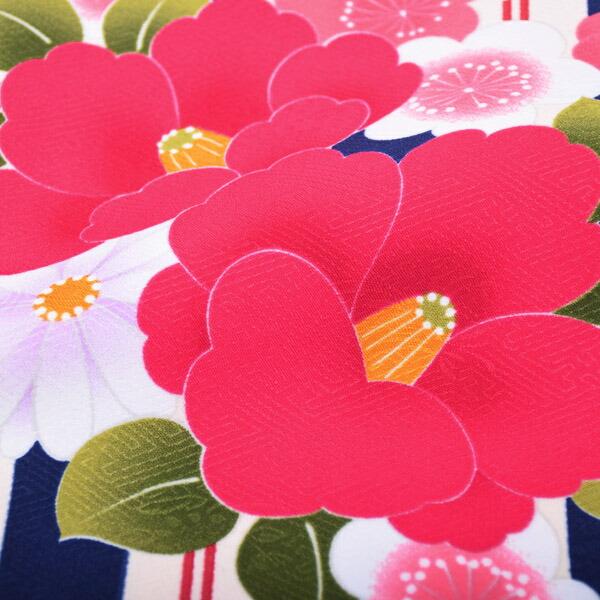 着物単品 卒業式の袴に ポリエステル着物