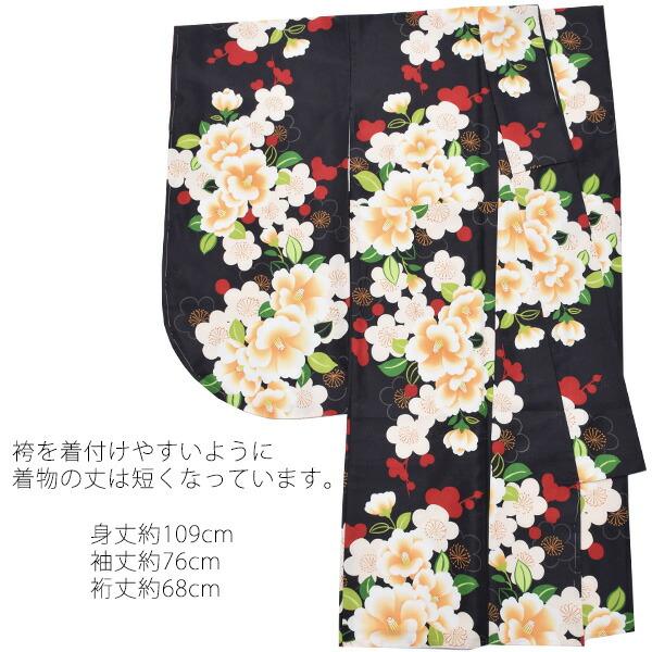 フリーサイズ 二尺袖 卒業式の袴に