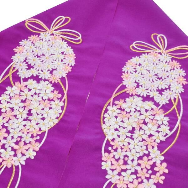 刺繍半衿 半襟 振袖小物
