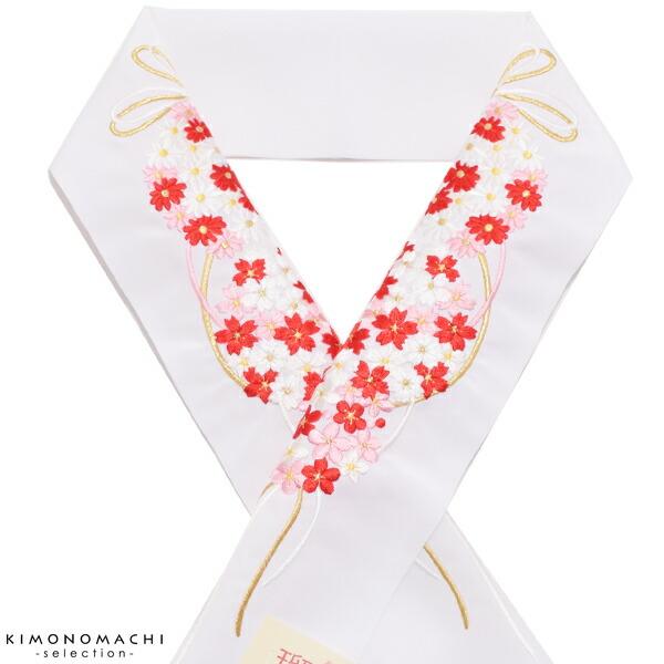 半衿 振袖衿 刺繍半衿
