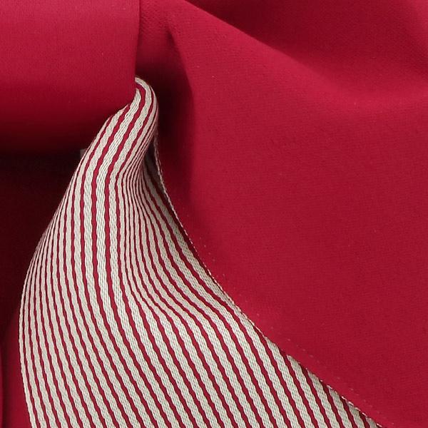 作り帯 結び帯 付帯 浴衣帯 着付け簡単 リボンタイプ 「無地×ストライプ ディープレッド」 日本製 LMB-ST4【メール便不可】