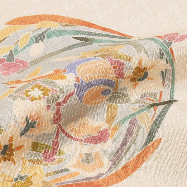 訪問着 お仕立て上がり 単品「ピンクベージュ 花菱」正絹着物 礼装 正絹 訪問着 袷 高級プレタ 袷仕立て プレタ 仕立て上がり <T>【メール便不可】【送料無料】