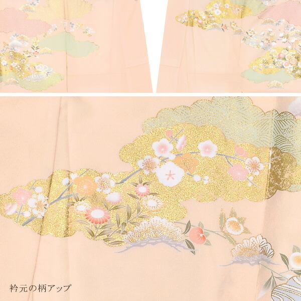訪問着 お仕立て上がり 単品 「薄ピンク 雲取り文様に四季折々の花」 正絹着物 礼装 正絹 訪問着 結婚式 パーティー 祝賀会 袷 プレタ 仕立てあがり <T>【メール便不可】