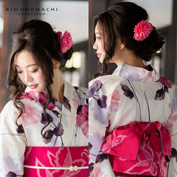 浴衣に 振袖に!華やかなお花のコームとUピンのポイント髪飾りセット