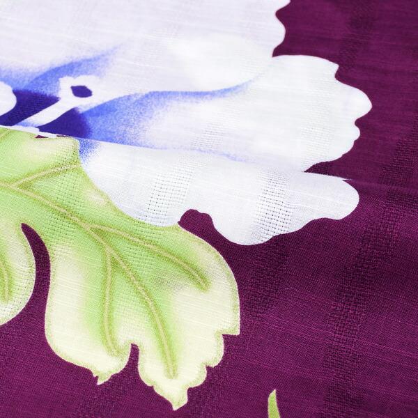 ブランド浴衣単品 レディース 浴衣 「HANAE MORI (h1907) 葵 赤紫」 2019年新作 大人浴衣 Fサイズ 女性用 女性浴衣 ゆかた 【メール便不可】