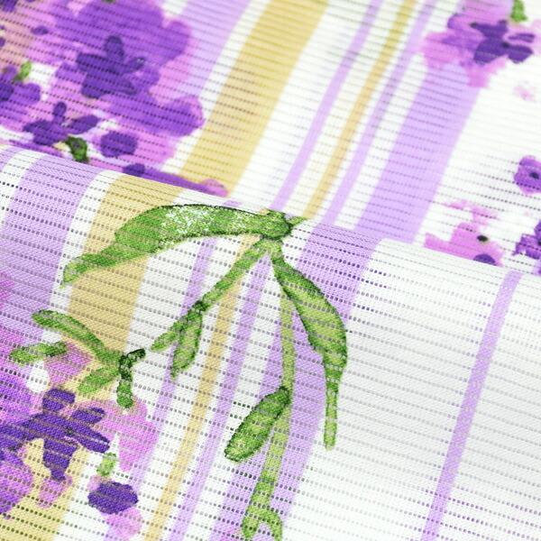 ブランド浴衣単品 レディース 浴衣 「みすゞうた (m1910) ストライプ゚ 花 紫」 2019年新作 大人浴衣 Fサイズ 女性用 女性浴衣 ゆかた 【メール便不可】