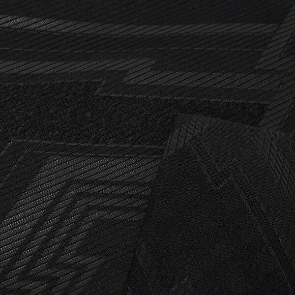 【訳アリ】お仕立て上がり 絽 正絹 黒共 九寸名古屋帯 「雲 全通柄」 喪用名古屋帯 喪式用 九寸帯 正絹名古屋帯 夏物 女性用 ブラックフォーマル 在庫限り【メール便不可】