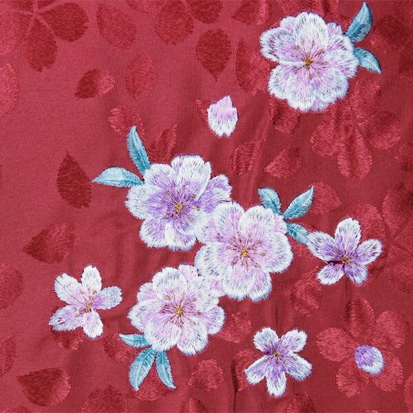 袴 単品 「赤 ぼかし 桜の刺繍 Mサイズ/Lサイズ」 卒業式 袴 レディース 行燈袴 女性用袴単品 【メール便不可】