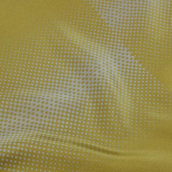長襦袢 反物 正絹 未仕立て 「鶯色 霰のぼかし 京友禅 経済大臣指定伝統的工芸品」 正絹長襦袢 レディース 女性用 着尺 反物 <T>【メール便不可】