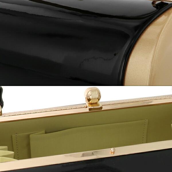 振袖 草履 バッグ 成人式 「ブラック×スモーキーゴールド No.6」 シンプルな無地 草履Lサイズ 24cm前後 女性用 レディース 振袖用草履バッグセット <R>【メール便不可】