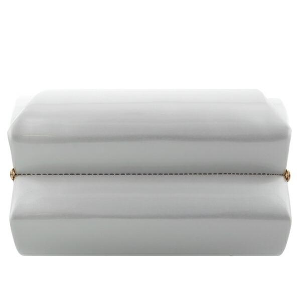 振袖 草履 バッグ 成人式 「シルバー×ホワイト No.5」 シンプルな無地 草履Lサイズ 24cm前後 女性用 レディース 振袖用草履バッグセット <R>【メール便不可】
