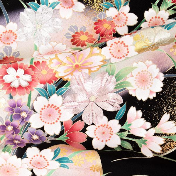 黒留袖 お仕立て上がり セット 「桜に流水」 紋入れ代込み 袋帯仕立て代込み 正絹着物 第一礼装 正絹 留袖 結婚式 袷 プレタ 仕立てあがり お仕立て上がり黒留袖フルセット <T>【メール便不可】