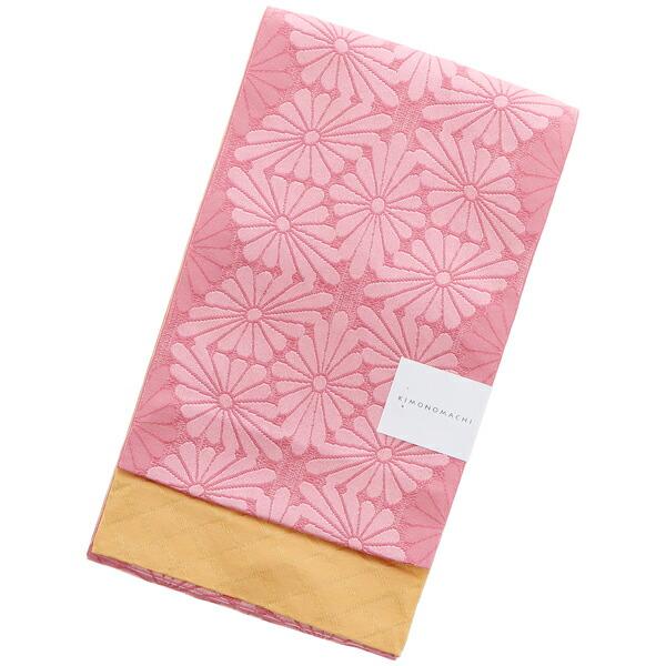 浴衣 帯 半幅帯 「桃色 菊菱」 大人 小袋帯 レディース 女性用 浴衣帯 半巾帯 半幅帯単品 【メール便不可】