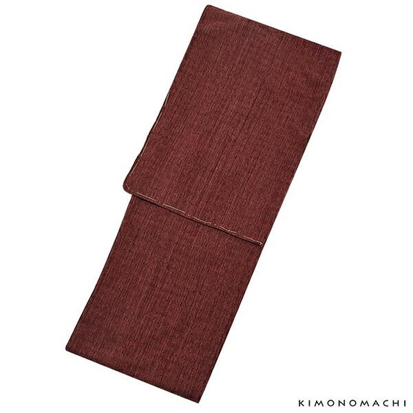 洗える着物 木綿着物 単品 「ボルドー格子」 お仕立て上がり オリジナル レディース 単衣着物 コットン プレタ着物 【メール便不可】