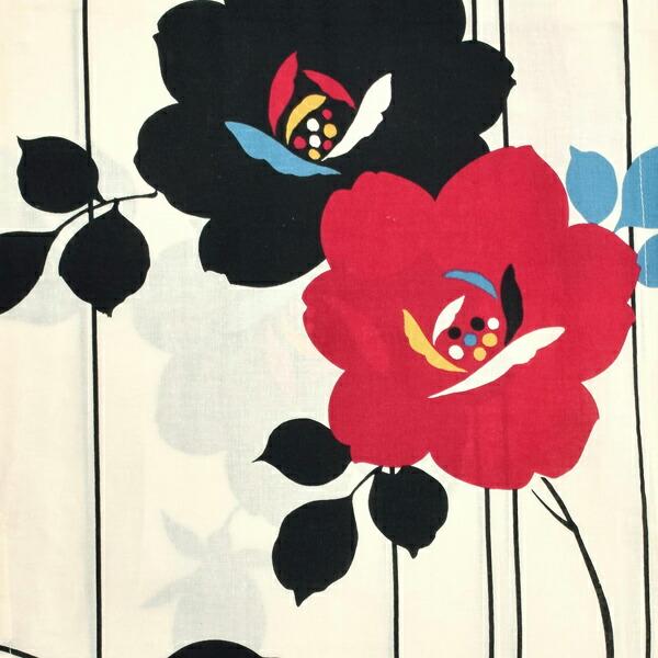 浴衣 レディース 単品 「クリーム色 レトロローズ FOFS-35」 フリーサイズ レトロ モダン 大人柄 女性浴衣単品 女浴衣 ゆかた yukata <H>【メール便不可】