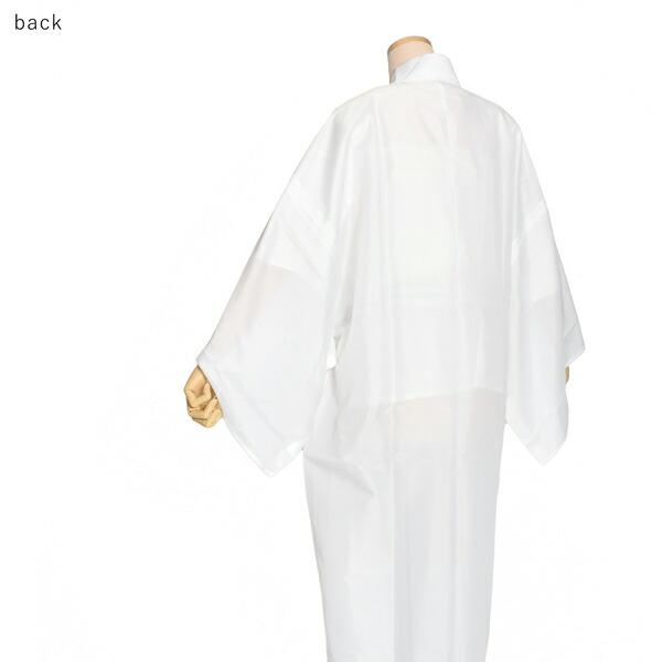 男長襦袢 絽 洗える長襦袢 「男性用 夏用長襦袢 白 お仕立てあがり」 S/M/L/LL/3Lサイズ 長襦袢単品 メンズ 男性用 男用 夏用襦袢 洗える襦袢 半衿付き 和装下着 着物 【メール便不可】