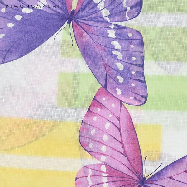 浴衣 セット レディース 大人 浴衣セット 浴衣2点セット(浴衣+帯)「浴衣:パープル蝶+半幅帯:蝶 ネイビーブルー」 大人柄 個性的 レトロモダン 花火大会 夏祭り 女性用浴衣 女性浴衣 ゆかた yukata 【メール便不可】