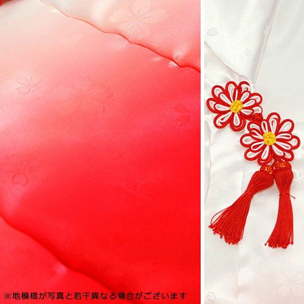 七五三 着物 3歳 女の子 被布コート 単品 「白×ピンクぼかし・白×赤ピンクぼかし 全2色」 日本製 中綿入り 女の子用被布コート単品 3才 女児用 三歳被布コート 【メール便不可】