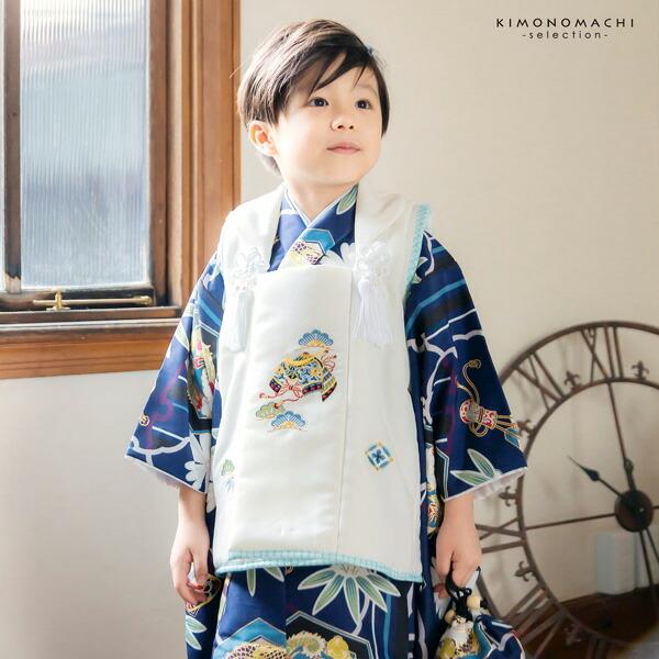 七五三 着物 3歳 男の子 ブランド被布セット 小町 「武具に龍 KKB-11」 三歳男児被布セット 子供着物 三才のお祝い着 3才向け 【送料無料】【メール便不可】